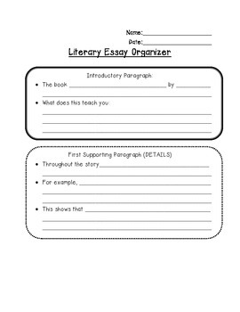 Literary Essay Organizer