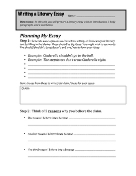 Literary Essay: Planning and Drafting Guide