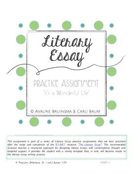 It's a Wonderful Life - Literary Essay Writing (Christmas Activity)