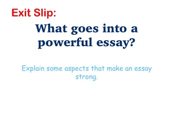 Literary Essay - Putting It All Together; Constructing Literary Essays