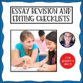 Literary Essay Revision and Editing Checklist