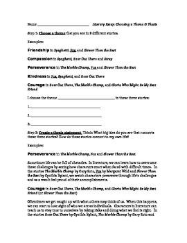Literary Essay Thesis (Grade 4)