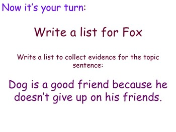 Literary Essay - Using Lists as Evidence