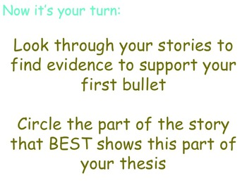 Literary Essay - Using Stories as Evidence