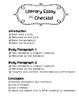 Literary Essay Writing Checklist