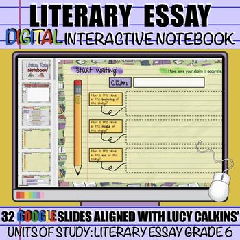 Literary Essay Writing: DIGITAL Interactive Notebook