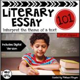 Literary Essay Writing Unit