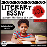 Literary Essay Writing Unit - Distance Learning