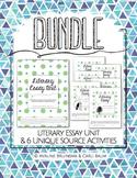 Literary Essay Writing Unit BUNDLE (Unit + 6 separate assignments)