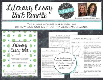 Literary Essay Writing Unit BUNDLE (Unit + 6 separate assignments)