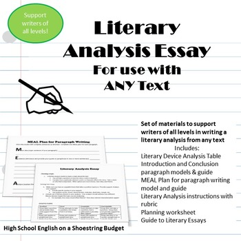 Literary Essay Writing for Any Text, Differentiate for Wri