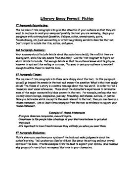 Literary Essay Format & Rubric
