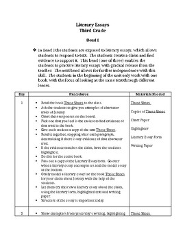 Literary Essays - Grade 3