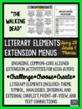The Walking Dead Literary Elements Extension Menu
