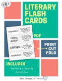 Literary Flash Cards