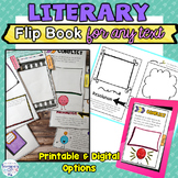 Literary Flip Book for Any Text Printable and Digital for Google Classroom