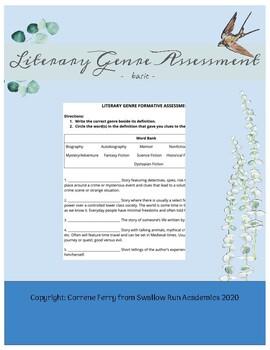 Literary Genre Assessment - basic