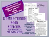 Literary Genre - Book Report Speeches (Collection of 8) + Bonus
