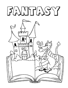 Literary Genre Coloring Pages by The Crayonbox | TpT