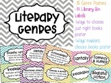 Library Genre Posters & Library Bin Labels