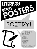 Literary Genre Posters: Poetry Set