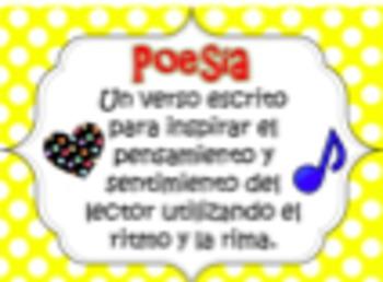 Literary Genre Posters (Spanish) / Géneros Literarios