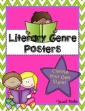 Literary Genre Printable Posters
