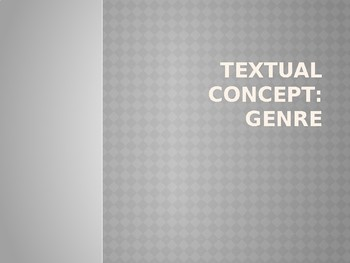 Literary Genre Review PowerPoint