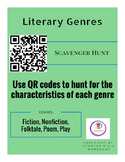QR Code Genre Scavenger Hunt (Fiction, Nonfiction, Folktale, Poem, Play)