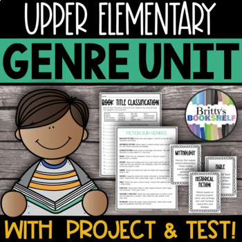 Literary Genre Unit: Genre Activities & Genre Test