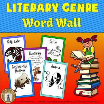 Genre Word Wall Posters