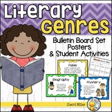 Literary Genres Bulletin Board Set and Activities