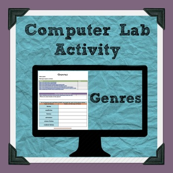 Literary Genres Computer Lab Activity