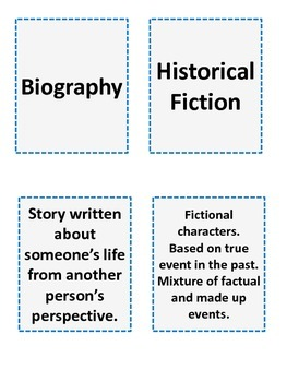Literary Genres Mix & Match Cards
