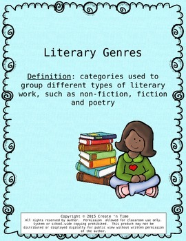 Literary Genres PowerPoint Show –An Introduction
