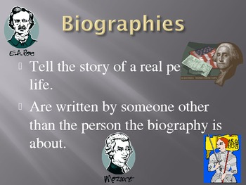 Literary Genres Powerpoint Fiction and Nonfiction