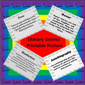Literary Genres Printable Posters