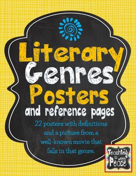 Literary Genres Resource Pack (chalkboard background) *22 genres included*
