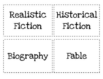 Literary Genres Review Cards {FREEBIE}