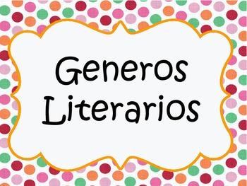 Literary Genres Spanish posters / Generos Literarios en espanol posters
