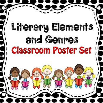 Literary Genres and Elements Classroom Poster Set