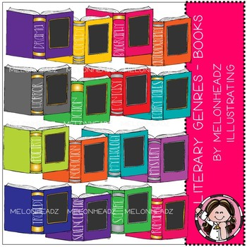 Literary Genres clip art - Books - COMBO PACK