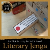 Literary Jenga: Reading Literature Activity for Grades 3-5