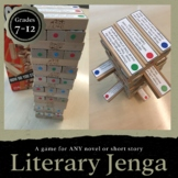 Literary Jenga: Reading Literature Game for ANY Novel Grades 7-12