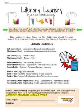 Literary Laundry - ELA Short Story Project