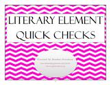 Literary Techniques Exit Slips Bundle