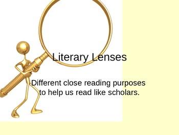 Literary Lenses Powerpoint