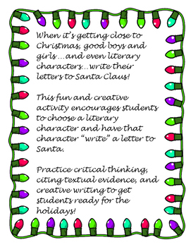 Literary Letter to Santa