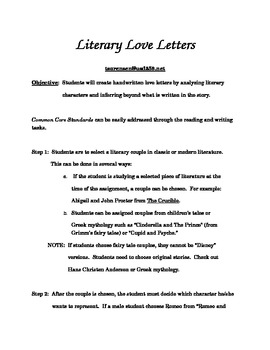 Literary Love Letters