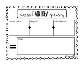Literary Main Idea Graphic Organizer FREEBIE